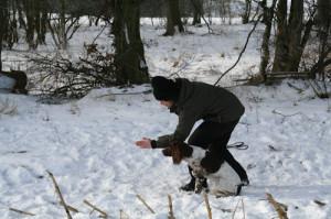 Jaktapportering - Linjetag med handtecken